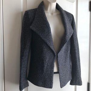 Jackets & Blazers - Francesca's Charcoal Wool & Polyester Blazer